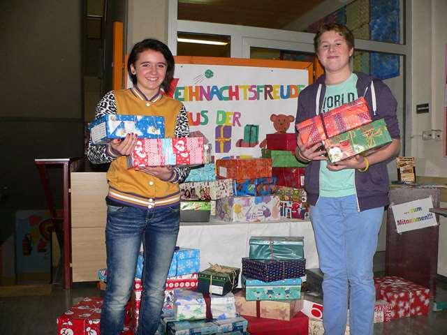 Weihnachten kann kommen – Die Päckchen sind bereits verpackt  und unterwegs zu  den Kindern