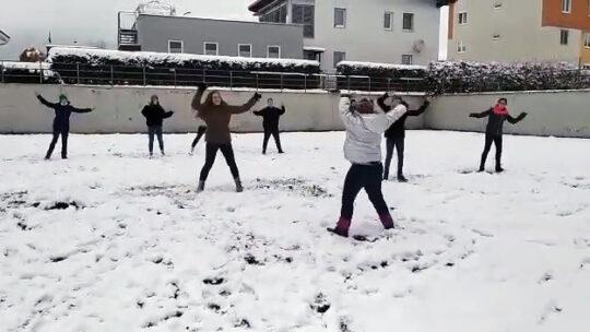 Tanzen im Schneegestöber